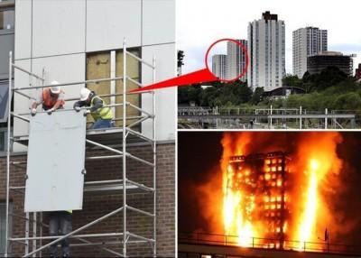不想成为格伦费尔翻版,工程人员移走屋邨大厦外墙隔热板。