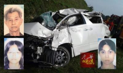 载有一家8人口之休旅车不幸被车祸,酿3尸4令惨剧。