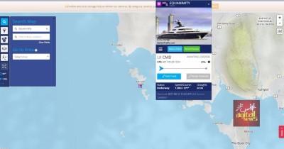 """冲游艇追踪网站《海事交通》资料显示,""""平静号""""已出现在泰国湾。\="""