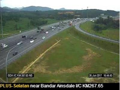 安斯黛儿城的路段交通行驶速度放缓.
