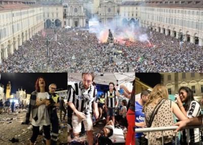 烟花爆炸令球迷以为遭炸弹袭击,引发人踩人事件。