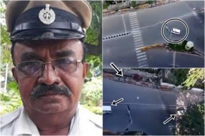 尼贾林加帕(左图)优先吃救护车通过(右上),重新为总统车队通过。(互联网图片)