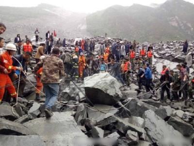 四川茂县今早发生山泥倾泻,100多人被埋。