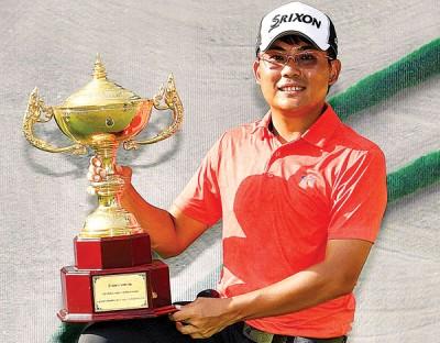 洪志勇在泰国夺得亚巡赛首冠后,大增信心。