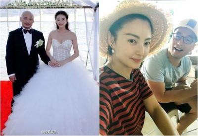 张雨绮与王全安(左图)离婚后,和袁巴元再婚。