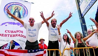 古巴后美国人支持特朗普修改对古巴政策。