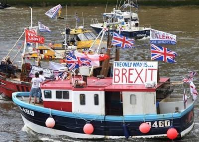英国渔船支持脱欧。