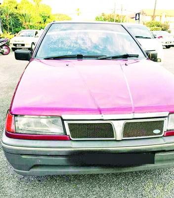 警方在行动中,起获1辆花蝴蝶轿车。