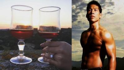 林智文po出求婚成功的喜讯,未婚妻露一手秀钻戒。