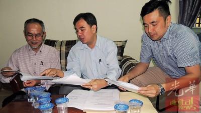 玛达(左起)、孙意志及方美铼:双溪峇甲医院必须有专科医生驻诊及增加病床。