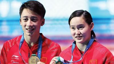 任茜/练俊杰夺得中国次日唯一的冠军。