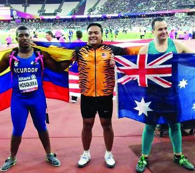里约残奥冠军莫哈最后兹亚(受到)于残疾田径世锦赛刷新世界纪录夺冠。