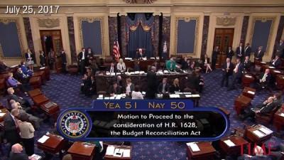 美国参议院以一票之差通过程序投票,开始辩论废除欧巴马医保。