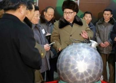 朝鲜曾展出宣称是经小型化的核弹头。
