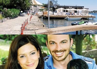 (上图)案发地点是受欢迎的海滨夜店。(下图)土耳其电视名人莫尔霍(生右)的女人珍那普(左)当枪击案中受伤。