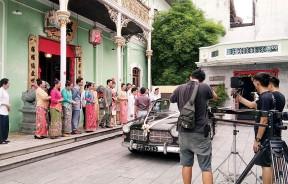 《娘惹相思格》在侨生博物馆拍摄千金出嫁的画面。