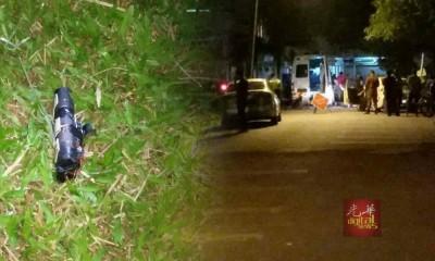 从轿车后部发现的土制炸弹。