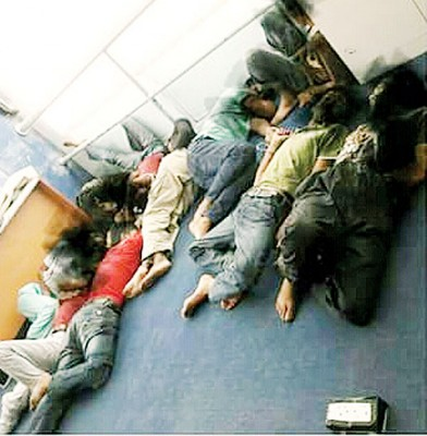 锡反毒机构执法员扫荡行动,11男子落网。