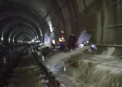 雨水涌入隧道导致多班列车受影响。