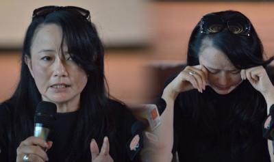 陪伴罗宾22年的Connie,以宾嫂的身份现身记者会,说到伤心处数度泪奔现场