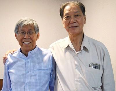 谈名光(左)和温文京。