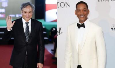 李安导演(左图)和好莱坞影星威尔史密斯(右图)将首度合作动作惊悚片,预定2019年10月上映。
