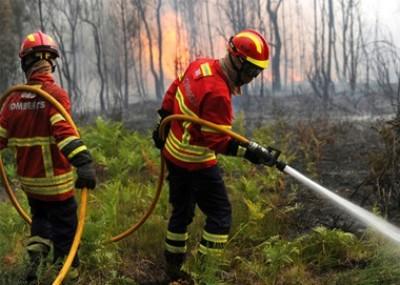 葡萄牙中心再次来山火,希冀为上月消防员救灾情况。