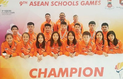 在东南亚学联运动会拿下傲人成绩,高喊大马能!