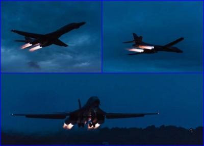 美国空军证实,美军两架B1B轰炸机周四从东海飞到南海。