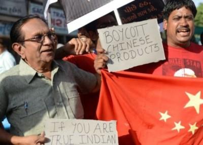 去年印度发生群众发起抵制中国货浪潮。