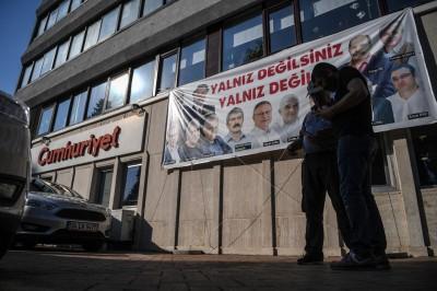 土耳其《共和报》旗下17名记者与合作撰稿人24日起受审(法新社照片)