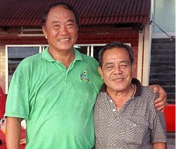 伍文美拍档陈贻权(左)在东南亚半岛运动会连续3届赛会称霸男双项目。