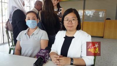 黄女士表示女儿及侄女被咬伤,心情很不好受。