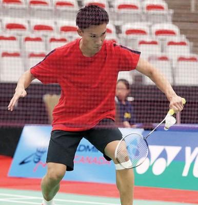 桃田贤斗在加拿大羽球赛一路闯进8强。