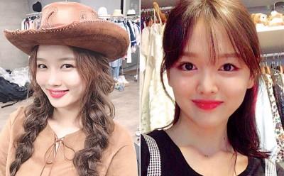 (左)金裕贞是童星身分出道,在韩国人气非常旺。(右)金妍贞有着一对跟妹妹一样的水汪汪大眼。