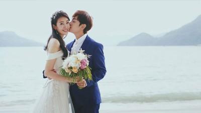 田铭耀和刘子绚举行婚礼。