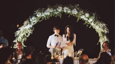 田铭耀和刘子绚发表爱的宣言。