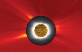 美国将出现日全食,届时民众可拍下日全食景象。