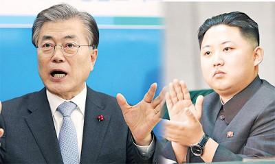 文在寅用与金正恩会面,朝鲜官媒发表社论指他痴人说梦。