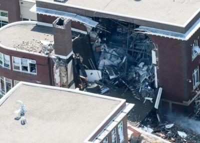 学校早上发生猛烈气体爆炸。(互联网图片)