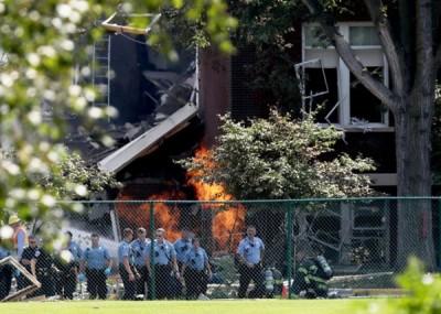 学校大楼损毁程度严重。(互联网图片)