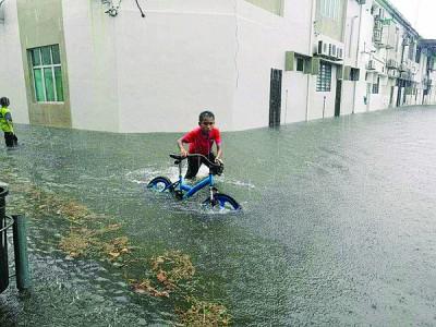 高渊周六底降雨量异常,117毫米破当地纪录。