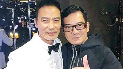 李国麟(右)跟任达华是小学同学。