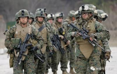 """美韩展开""""乙支自由卫士""""一起军演,贪图为有限师今年4月时演集情况。"""