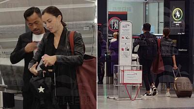洗米华和Mandy Lieu被目击一起离开英国去旅行。
