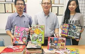 图为评审王俊龙(左起)、拿督吴文宝和本报业务发展暨节目策划经理郑伊伶,见证7月的得奖作品出炉。