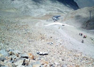 坠机现场位于崎岖的高地。