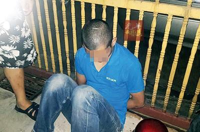 偷窃脚车嫌犯当场被捕。