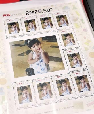 大马邮政局贴心祭出印刷邮票的机械,也群众印制专属头像邮票。