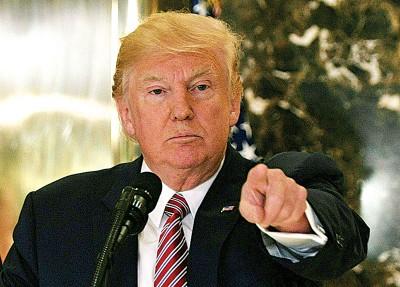 特朗普现正遭受国内外抨击。(法新社照片)